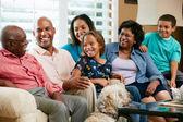 Retrato de familia multi generación — Foto de Stock