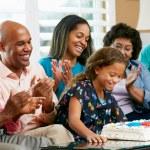 Multi Generation Family Celebrating Daughter's Birthday — Stock Photo #24653717