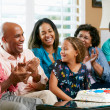 Multi Generation Family Celebrating Daughter's Birthday — Stock Photo #24650493