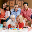 Multi Generation Family Celebrating Children's Birthday — Stock Photo