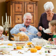 Multi Generation Family Celebrating Thanksgiving — Stock Photo #24650789