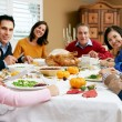 Multi Generation Family Celebrating With Christmas Meal — Stock Photo #24651105