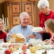 Multi Generation Family Celebrating With Christmas Meal — Stock Photo #24651115