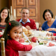 Multi Generation Family Celebrating With Christmas Meal — Stock Photo #24651157