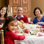 Multi generacji rodziny z okazji Bożego Narodzenia posiłek — Zdjęcie stockowe