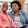 Portrait Of Happy Senior Couple At Home - Lizenzfreies Foto