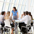 Business Having Board Meeting In Modern Office — Stock Photo #24652487