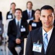 BusinessmDelivering Presentation At Conference — Stock Photo #24652549