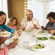 Multi Generation Family Enjoying Meal At Home — Stock Photo #24653327