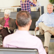 Patients In Doctor's Waiting Room — Foto de Stock