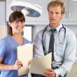 Portrait Of Doctor And Nurse In Doctor's Office — Foto Stock