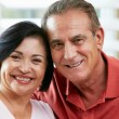 Stock Photo: Portrait Of Happy Senior Couple At Home