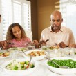 Family Enjoying Meal At Home — Stock Photo #24653625