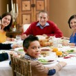 Multi Generation Family Celebrating With Christmas Meal — Stock Photo #24653781
