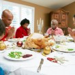 Multi Generation Family Celebrating With Christmas Meal — Stock Photo #24654097