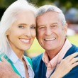 Stock Photo: Outdoor Portrait Of Happy Senior Couple