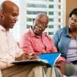 Financial Advisor Talking To Senior Couple At Home — Stock Photo #24654719