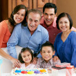 Multi Generation Family Celebrating Children's Birthday — Stockfoto #24655167