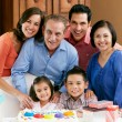 Multi Generation Family Celebrating Children's Birthday — Foto Stock
