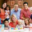 Multi Generation Family Celebrating Children's Birthday — Stock Photo #24655329
