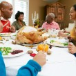 Stock Photo: Multi Generation Family Celebrating Thanksgiving