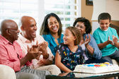Multi Generation Family Celebrating Daughter's Birthday — Stock Photo