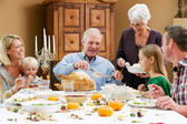 Multi Generation Family Celebrating Thanksgiving — Foto de Stock
