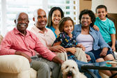 портрет multi поколения семьи — Стоковое фото