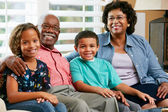Portrait Of Grandparents With Grandchildren — Stock Photo