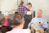 Patients In Doctor's Waiting Room — Stock Photo