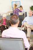 Patients In Doctor's Waiting Room — Fotografia Stock