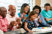 Multi Generation Family Celebrating Daughter's Birthday — Foto Stock