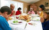 Multi Generation Family Celebrating With Christmas Meal — Stockfoto