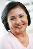 Portrait Of Happy Senior Woman At Home — Stock Photo