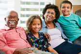 Portrait Of Grandparents With Grandchildren — Foto Stock