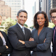 Portrait Of Four Business Colleagues Outside Office — Stock Photo #25045405