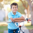 Boy Riding Bike On Path — Stock Photo