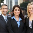 Portrait Of Three Business Colleagues Outside Office — Stock Photo #25045543