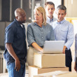 Workers In Distribution Warehouse — Stock Photo #25045559