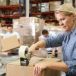 Workers In Distribution Warehouse - Foto Stock