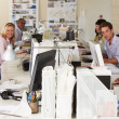 Team Working At Desks In Busy Office — Stock Photo #25045877