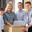 Workers In Distribution Warehouse — Stock Photo #25045991