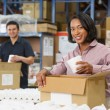 Manager Checking Goods On Production Line — Stock Photo #25046461