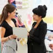 Two Women Meeting In Fashion Design Studio - Foto de Stock