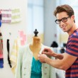 Male Fashion Designer In Studio — Stock Photo