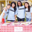 Stock Photo: Team Of Women Running Charity Bake Sale