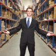 Portrait Of Manager In Warehouse - Foto Stock
