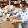 Workers In Distribution Warehouse — Stock Photo #25048151