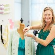Fashion Designer In Studio — Stock Photo