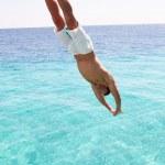 meu mergulho no mar — Foto Stock